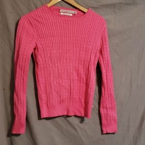 Tommy Hilfiger pink cable knit sweater